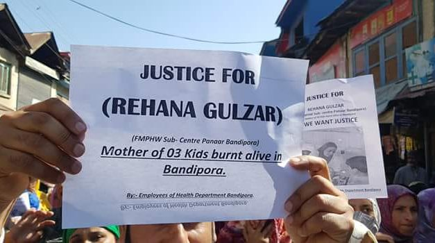 Mother of three kids died when burnt alive in bandipora by inlaws.