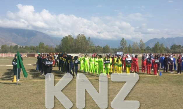 Kashmir-Inter District Woman's Cricket Match update