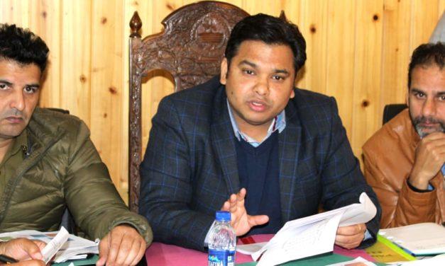 DEO Ganderbal reviews preparedness for Panchayat elections