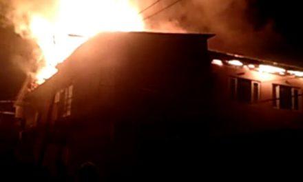 Fire breaks out in municipal committee building in Shopian
