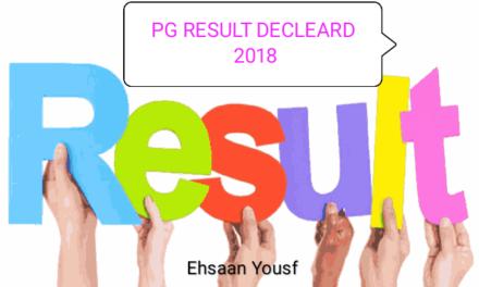 KU: PG ENTRANCE TEST 2018 RESULT DECLARED