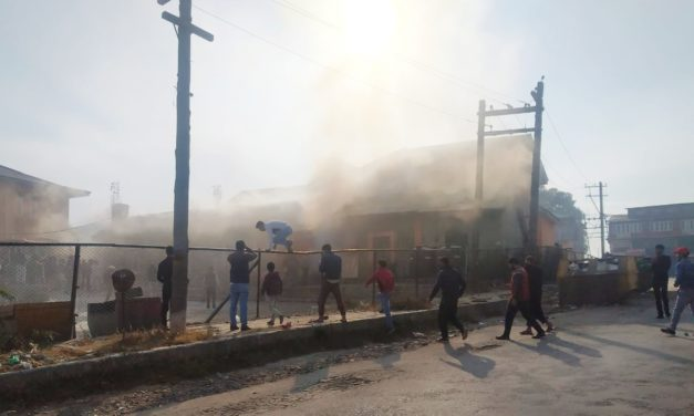 Fire engulfs canteen of maternity hospital at SKIMS
