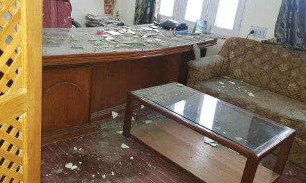 Chief medical officer Bandipora Dr Bilquees escapes unhurt after her office ceiling collapses