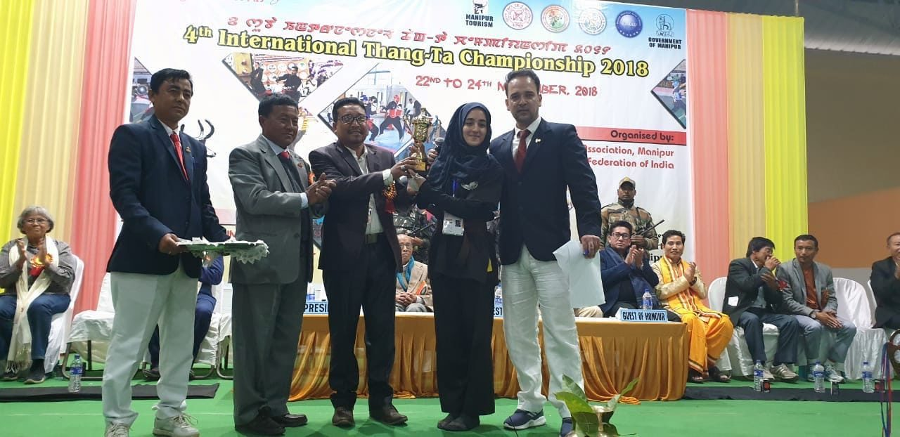 "Kashmiri Girl emerges as ""World Best Fighter"" in 4th International Thang tha Championship."