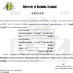 KU: Notice regarding submission of examination forms for B.G 3rd & 4th Semester (FRESH PRIVATE) candidates – Batch: 2017