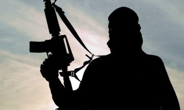Dozens of militants offer gun salute to their associate in South Kashmir's Shopian