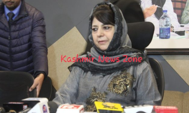 Mehbooba calls Mirwaiz, conveys her outrage over appearance of IS flag in Jamia Masjid