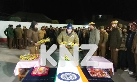 Wreath laying ceremony for slain policeman held at DPL Ganderbal