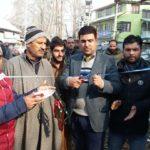 Chairman MC Ganderbal Altaf Ganderbali inaugurates new Parking space in Duderhuma Chowk