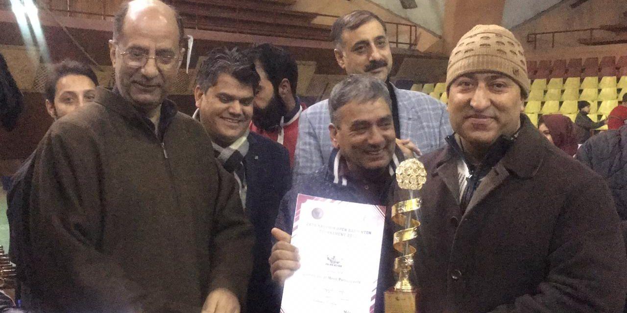 Kashmir open badminton championship concludes at Sheri-Kashmir Indoor  Stadium