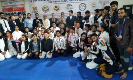 Karate Do-Association Budgam lifted The Trophy in State Karate-Do Championship Held at Mahajan Hall Jammu 21st to 23rd December 2018.