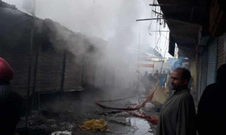 10 shops gutted in mid night ablaze at handwara in North Kashmir