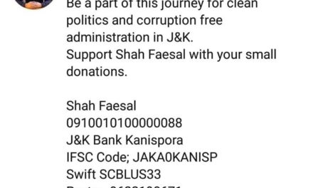 Shah Faesal hints at launching his own party; seeks public donation