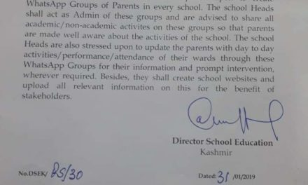 School education dept in Kashmir directs schools to create WhatsApp groups