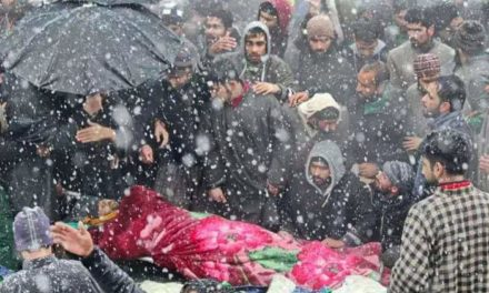Thousands participate in multiple funeral prayers of slain Lashkar commander in Pulwama village