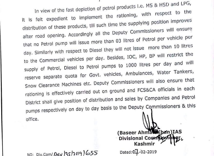 Div comm issues directions for petrol pump owners