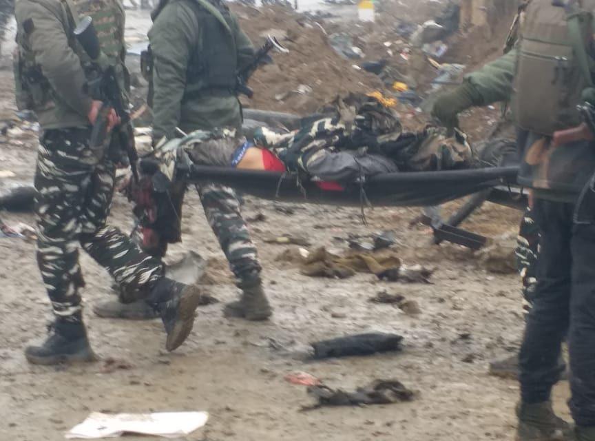 Big Breaking News : 12 CRPF men killed, thirteen others injured in Lethpora car-bomb blast