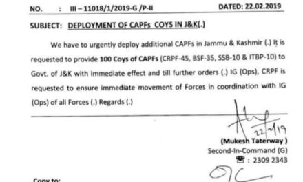 Centre to deploy more paramilitary forces in Kashmir
