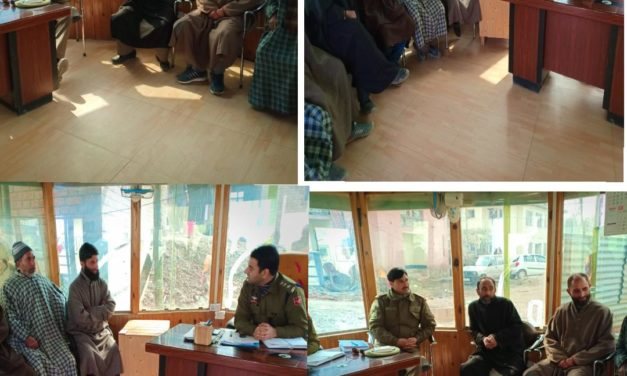 Police Public meet held at Sumbal