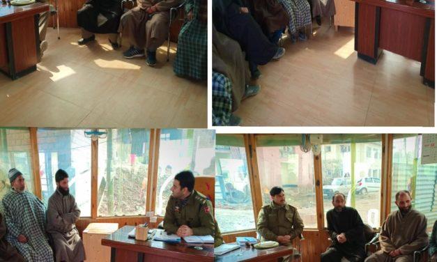 Police Public meet held at Sumbal