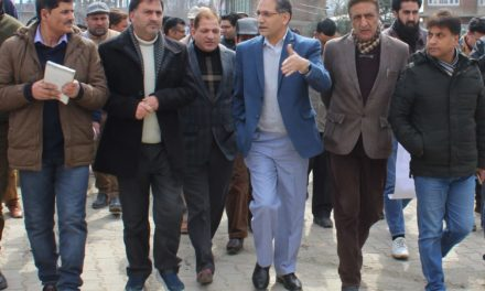 DDC Ganderbal inspects progress on Pandach-Beehama road widening