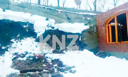 Landslide damages under-construction House in Kijpora Kangan