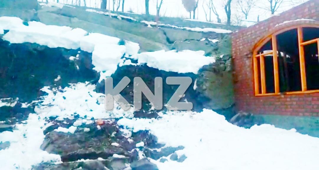 Landslide damages under-construction House in Kijpora Kangan