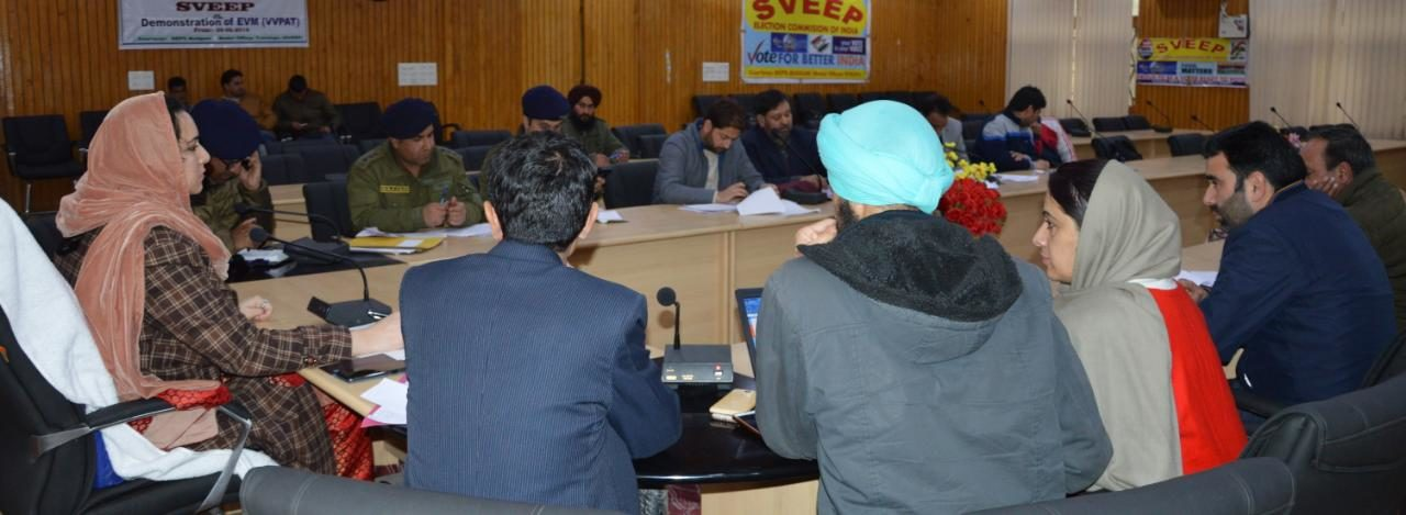 DEO Budgam reviews security arrangements for the Lok Sabha Elections-2019