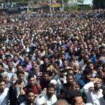 Thousands participate in funeral prayers of slain militants, 'Militants offer gun salute at Shopian