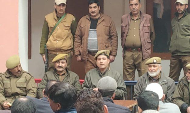 PCPG meet held at police station Ganderbal