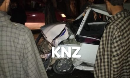 Three injured after two cars collide with each other on Srinagar-Leh highway at Preng Kangan