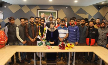 Ch Talib Hussain joins PDP in presence of Mehbooba Mufti.