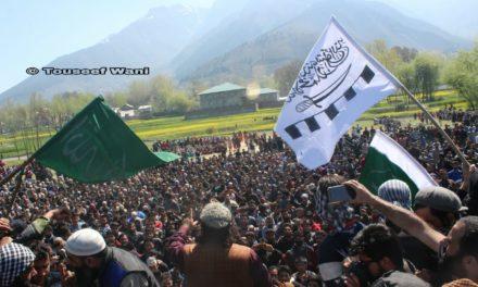 Thousands attended funeral of slain M.Tech militant in Ganderbal
