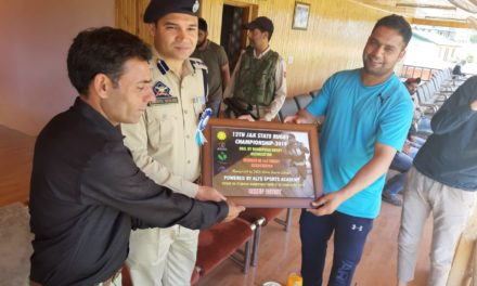 Closing ceremony of the 12th J&K State Rugby Championship -2019 held at SK Stadium Bandipora, SSP Bandipora presided over as Chief Guest