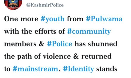 Youth from south Kashmir's Pulwama has shun militancy: Police