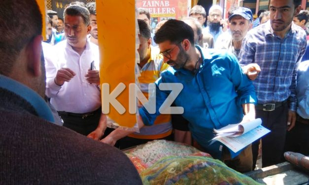 Food Safety Department conducted market awerness in Kangan Ganderbal