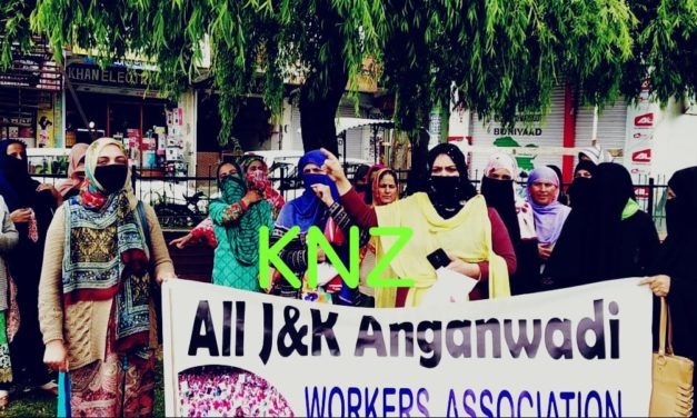 Anganwadi workers and helpers protest against reduction in remuneration