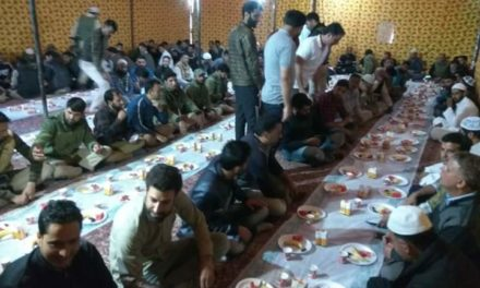 "Ganderbal Police Organised ""Iftar Party"" In District Police Line Ganderbal"