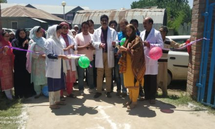 Intensified Diarrhea control  fortnight center  inagurated at CHC Sumbal