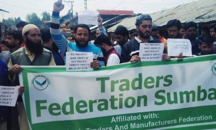 Sumbal Traders Protests against the Defaming Sumbal Girls Remarks Of Moulana Bilal Kumar,'Demands Strict Action