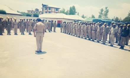 Two Minutes Silence Prayer Observed In District Police Lines Ganderbal In The Honour Of Martyr Insp Arshid Khan