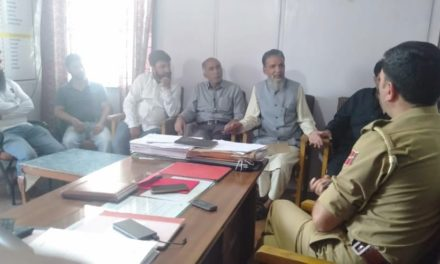 Police Public meeting held at Police Station Nowgam