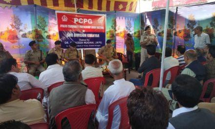 SSP Srinagar chairs PCPG meeting at Police Station Khanyar