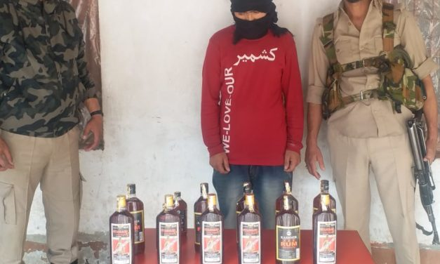 Bootlegger Arrested In Poshkar Kangan, 13 Bottles Of Illicit Liquor Recovered