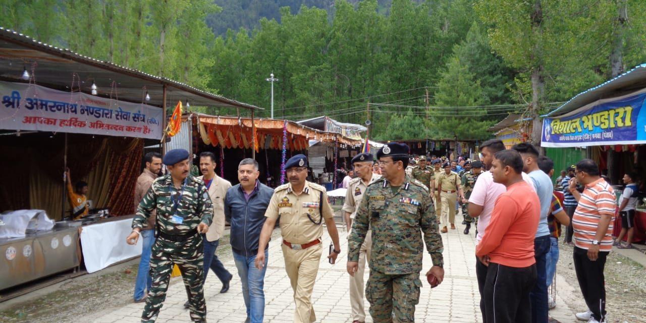 Amar Nath yatra -2019 : DGP reviews security arrangements at holy cave, Pahalgam