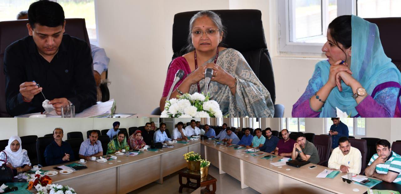 District Level Stake Holders meeting on GSDP, ENVIS held in Ganderbal