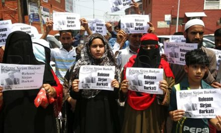 Jailed Sarjan Barkati's family stages protest in Srinagar, seeks his release