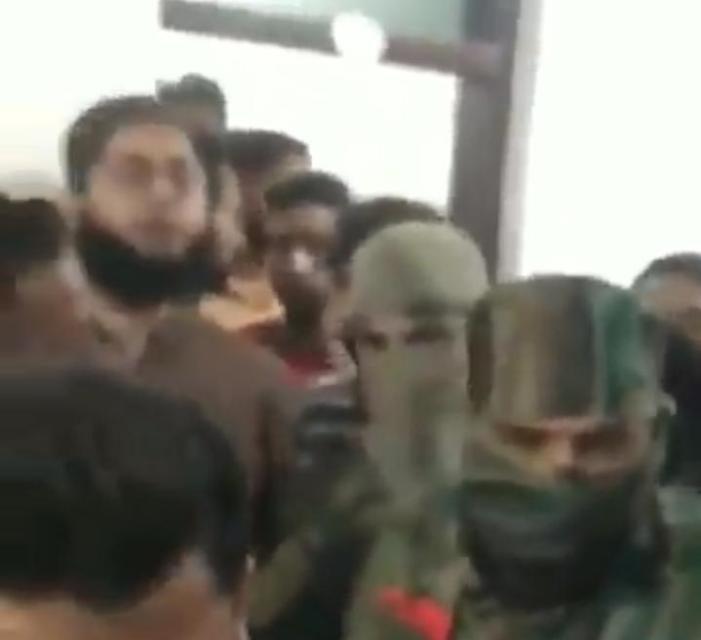 Govt Forces conduct raid Central University Boys Hostel, inputs presence of Militants