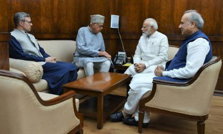 National Conference delegation led by Farooq Abdullah calls on PM Modi to hold Kashmir assembly polls before year-end