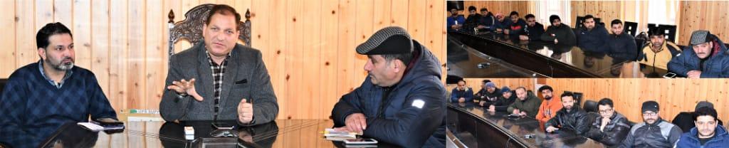 DDC Ganderbal Interacted with Media Persons Ganderbal,
